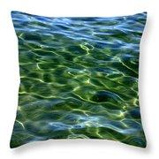 Lake Tahoe Swirls Throw Pillow