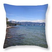 Lake Tahoe Waterscape Throw Pillow