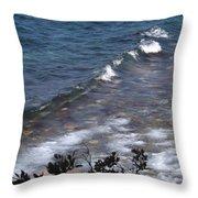 Lake Tahoe Waves Throw Pillow
