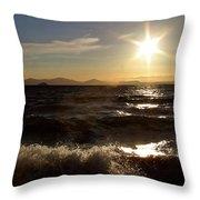 Lake Taupo New Zealand Throw Pillow
