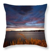 Lake Taupo Sunset Throw Pillow