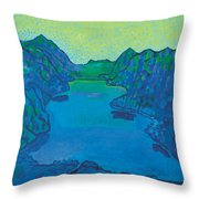 Lake Thun Throw Pillow