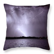 Lake Thunderstorm Throw Pillow