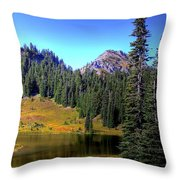 Lake Tipsoo Throw Pillow