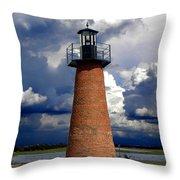 Lake Toho Lighthouse 002  Throw Pillow