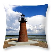 Lake Toho Lighthouse Throw Pillow