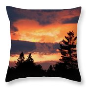 Lake Umbagog National Wildlife Refuge Sunset  Throw Pillow
