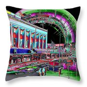 Lake Union Rainbow Throw Pillow