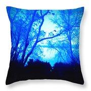 Lake View Cezanne Style Throw Pillow