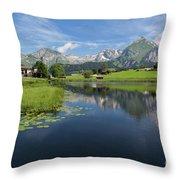 Lake Vorderer Schwendisee Throw Pillow