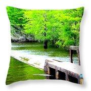 Lake Waccamaw Dam Throw Pillow