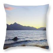 Lake Wakatipu At Sunset Throw Pillow