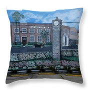 Lake Wales Florida Mural Throw Pillow