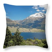 Lake Wanaka New Zealand Iv Throw Pillow