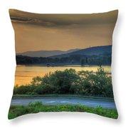 Lake Washington And Route 209 Throw Pillow