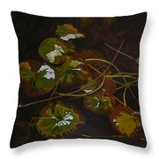 Lake Washington Lily Pad 16 Throw Pillow