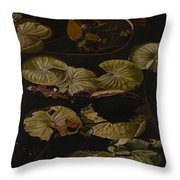 Lake Washington Lily Pad 9 Throw Pillow