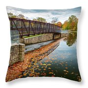 Lake Waterford Fall Waterscape Throw Pillow