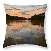 Lake Wedowee Alabama At Sunset Throw Pillow