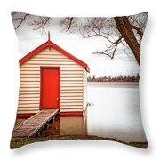 Lake Wendourie Boathouse Throw Pillow