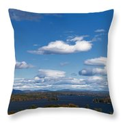 Lake Winnipesaukee New Hampshire In Autumn Throw Pillow