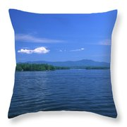 Lake Winnipesaukee Summer Day Throw Pillow by John Burk