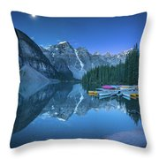 Lake With Moon At Four Am Throw Pillow