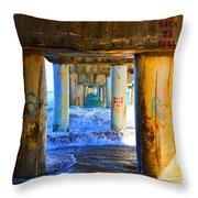 Lake Worth, Florida Pier Throw Pillow