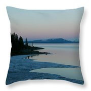 Lake Yellowstone Throw Pillow