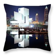 Lakefront Lights Throw Pillow