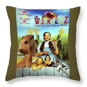 Lakeland Terrier Art Canvas Print - The Wizard Of Oz Movie Poster Throw Pillow