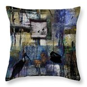Lakeshore At Dawn Throw Pillow