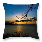 Lakeshore Sunset Throw Pillow