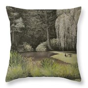 Lakeside At Mountain Playhouse Throw Pillow