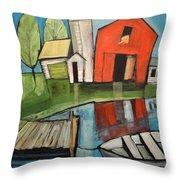 Lakeside Farm Throw Pillow
