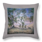 Lakeside Limbs Throw Pillow