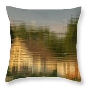Lakeside Living On Wiggins Lake - Abstract Throw Pillow