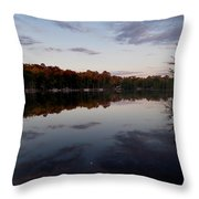 Lakeside Moon Throw Pillow