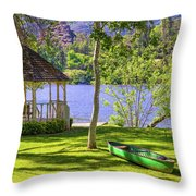 Lakeside Relaxation Throw Pillow