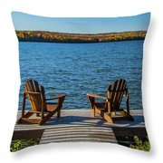 Lakeside Seating For Two Throw Pillow
