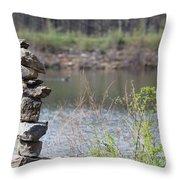 Lakeside Stone Art Throw Pillow