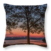 Lakeside Sunrise Throw Pillow