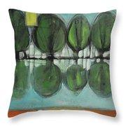 Lakeside Trees Throw Pillow