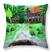 Lakewoods Lodge Throw Pillow