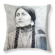 Lakota Woman Throw Pillow