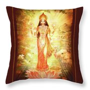Lakshmi Goddess Of Fortune Throw Pillow