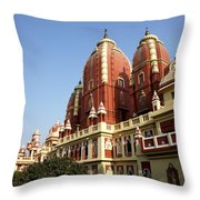 Lakshmi Narayan Mandir Throw Pillow