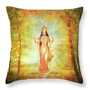 Lakshmi Vision In The Forest  Throw Pillow