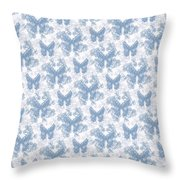 Lalabutterfly Blue Wedgewood Reverse Throw Pillow