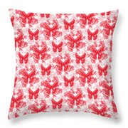 Lalabutterfly Red And White Throw Pillow